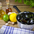 Mussels with ingredients — Stock Photo #6869040