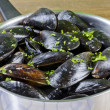 Mussels with ingredients — Stock Photo #6869072