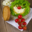 Polish vegetable salads with mayonnaise — Stock Photo