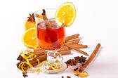 Hot wine punch — Stock Photo