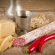 Hard cheese to me salami Purely Porc — Foto Stock