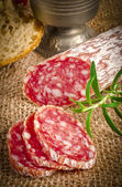 Salami Pur Porc — Stock Photo