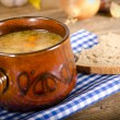 Pea soup (Polish Grochowka) - Stock Photo