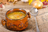 Pea soup (Polish Grochowka) — Stock Photo