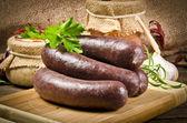 Krupniok echt polnische Blutwurst — Stock Photo