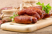 Polish junipers sausage — Stock Photo