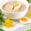 Zurek is a decent Polish Easter soup — Stock Photo
