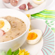 Zurek is a decent Polish Easter soup — Stock Photo #7806218