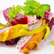 Stock Photo: Beetroot horseradish tureen with avocado cream and Pitaya