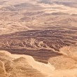 Stock Photo: Sand dunes in the Sahara Desert in Egypt. View from the airplane.