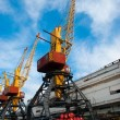 Stock Photo: Cargo crane in port