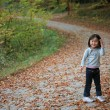 Child outdoor in forest — Stock Photo