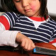 Violin child — Stock Photo