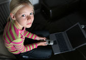 Computer child — Stock Photo