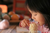 Children eating — Stock Photo