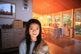 Cute child at home — Stock Photo