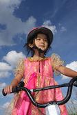 自行车儿童 — 图库照片