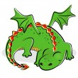 Stock Vector: Nice slipping dragon