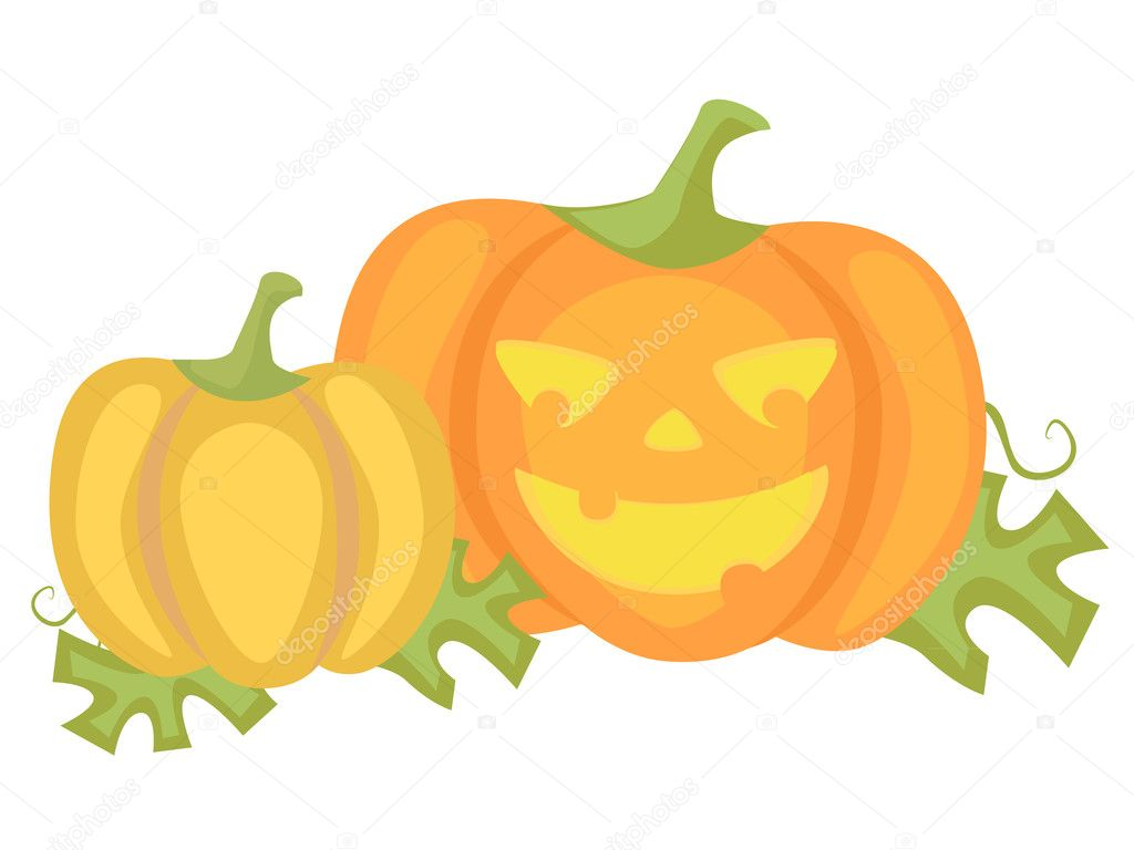 Illustration of the halloween pumpkin — Stock Vector #7227810