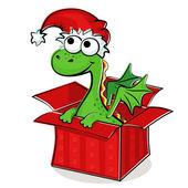Fanny dragon in box — Stock Vector