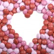 Valentine Candy Heart Frame — Stock Photo #6901285