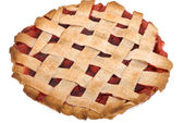 Cherry Pie Whole — Stock Photo