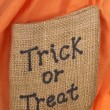 Halloween Trick or Treat Burlap — Stock Photo