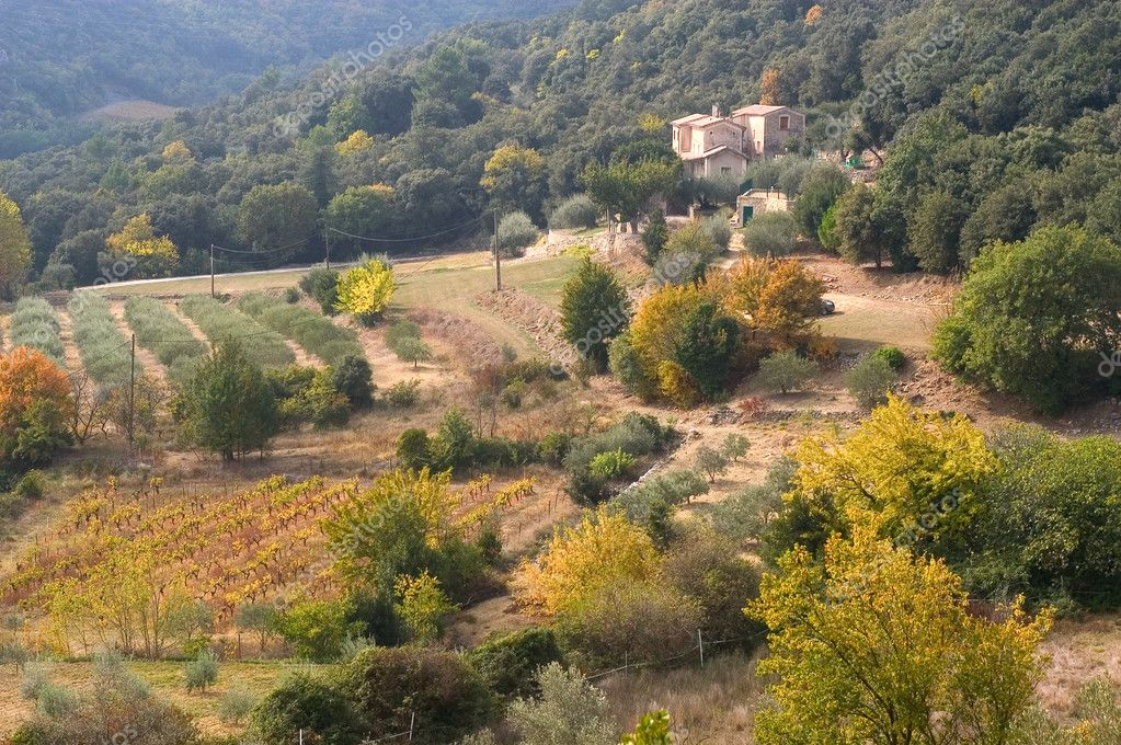 French landscape of the Cevennes in autumn — Stock Photo #7585857
