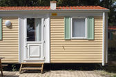 Mobil-home in a camp-site — Stock Photo