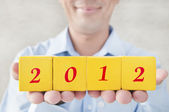 Welcome to 2012 years — Stock Photo