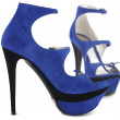 Blue summer female shoes — Stock Photo #7139207