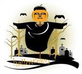 Frighten in halloween — Stock Vector