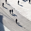 Walking at the street with long shadows — Stock Photo #6752399