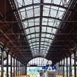 Classicistic iron train station from inside — Stock Photo