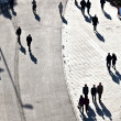 Walking at the street with long shadows — Stock Photo #6762865