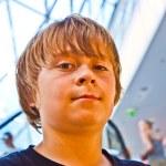 Smiling boy inside a center — Stock Photo #6781417
