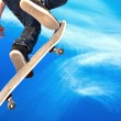 Skate board going airborne — Stock Photo #6824353