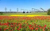 Centrale électrique de pré de belles fleurs — Photo