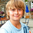Young boy looking confident and smiles — Stock Photo #6864832