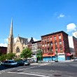 Ephesus Seventh-day church in Harlem, new York - Stock Photo