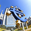 EURO Sign in Frankfurt - Stock Photo