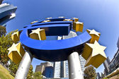 EURO Sign in Frankfurt — Stock Photo