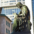 Statue of Johannes Gutenberg, inventor of book printing, Frankfu — Stock Photo