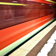 Subway in the station with speed — Stock Photo