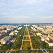 View to capitol hill over the mall — Stock Photo