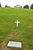 Modest tomb of Robert Kennedy in Arlington National Cemetery, Ar — Foto de Stock