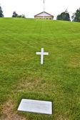 Modeste tombe de robert kennedy au cimetière national d'arlington, ar — Photo