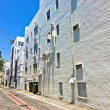 Old painted brick houses in South Miami in the Art deco district — Stock Photo