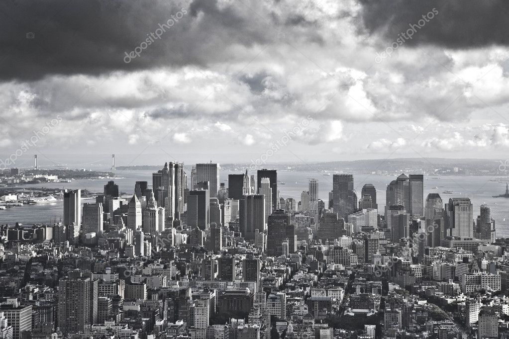 South aerial view of Manhattan, New York — Stock Photo #7114633