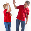 Father and son hugging — Stock Photo #7121516